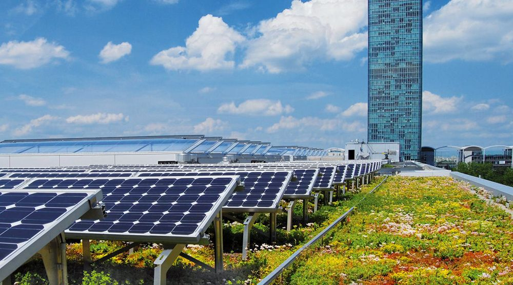 Green roof integrated photovoltaic system