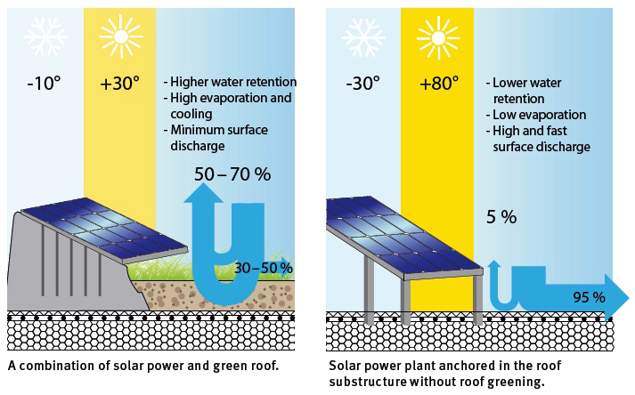 Green roof integrated photovoltaic system explained