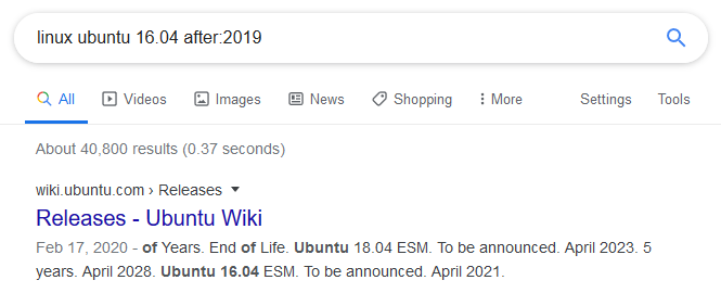 How to filter Google search results by date?