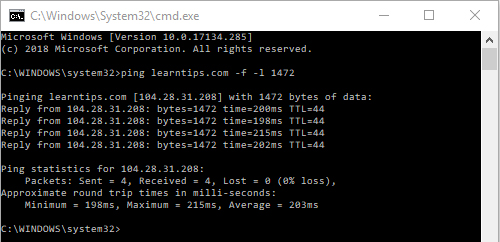 change your internet connections MTP limit using Command Prompt