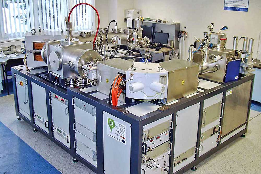 An accelerator mass spectrometer