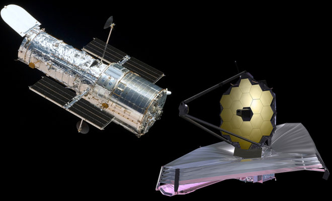 Compare Hubble Space Telescope and James Webb Space Telescopes