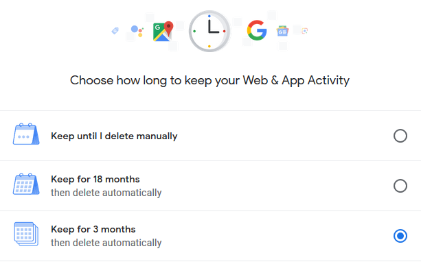 How to self-destruct Google data?