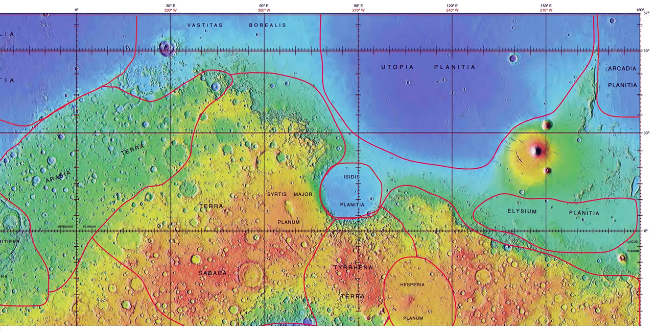 Utopia Planitia impact crater for some interesting facts about impact craters on Mars