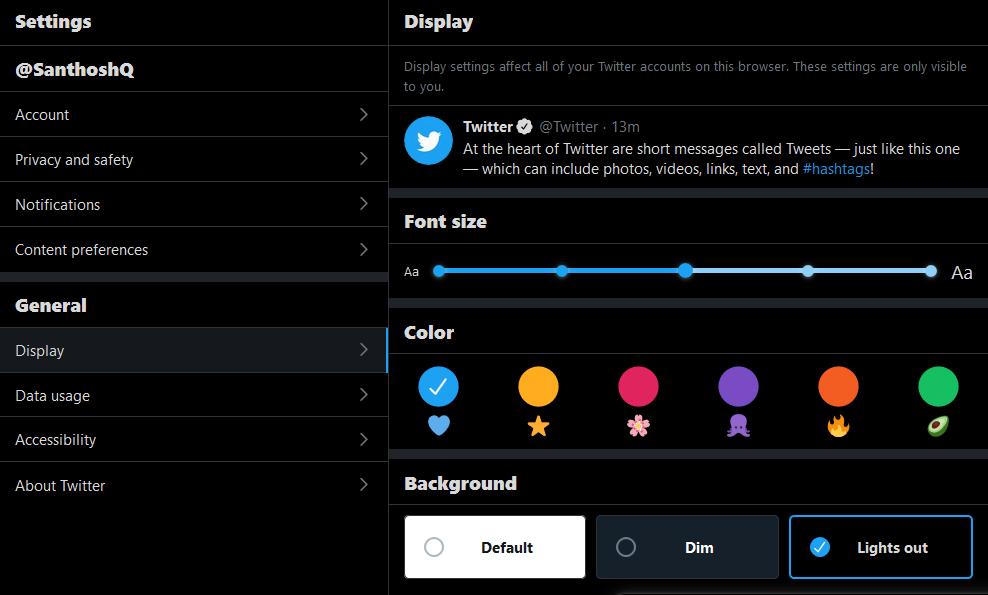 How to get Twitter dark mode on desktop?