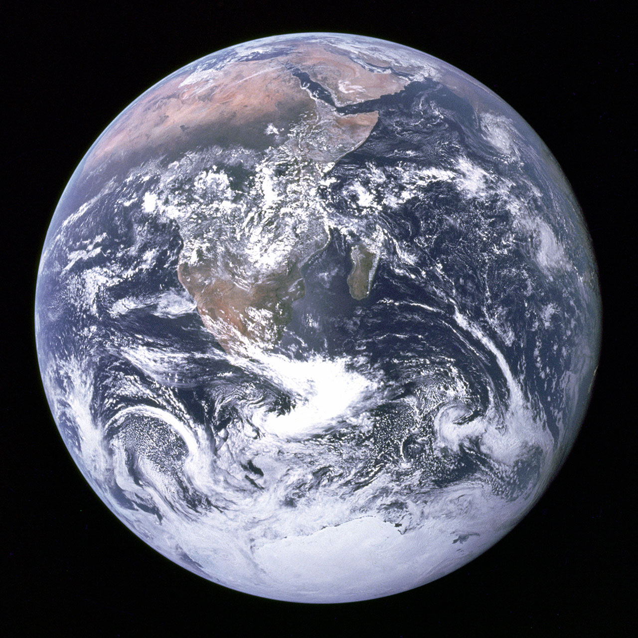 Photos of Earth from various points in Space