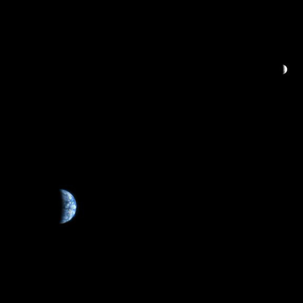 Earth and Moon as seen from Mars for photos of Earth from various points in space