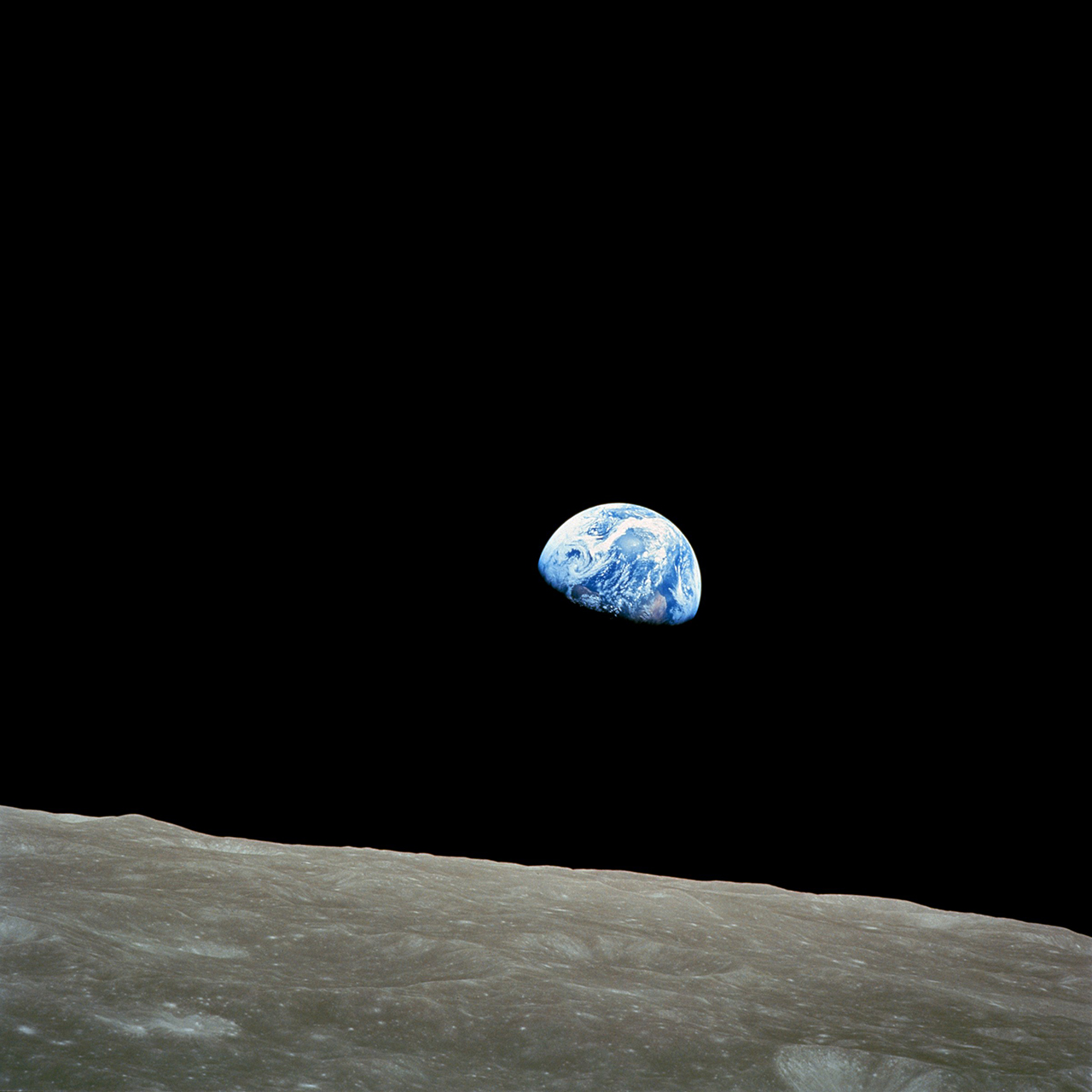 Earthrise image for photos of Earth from various points in space