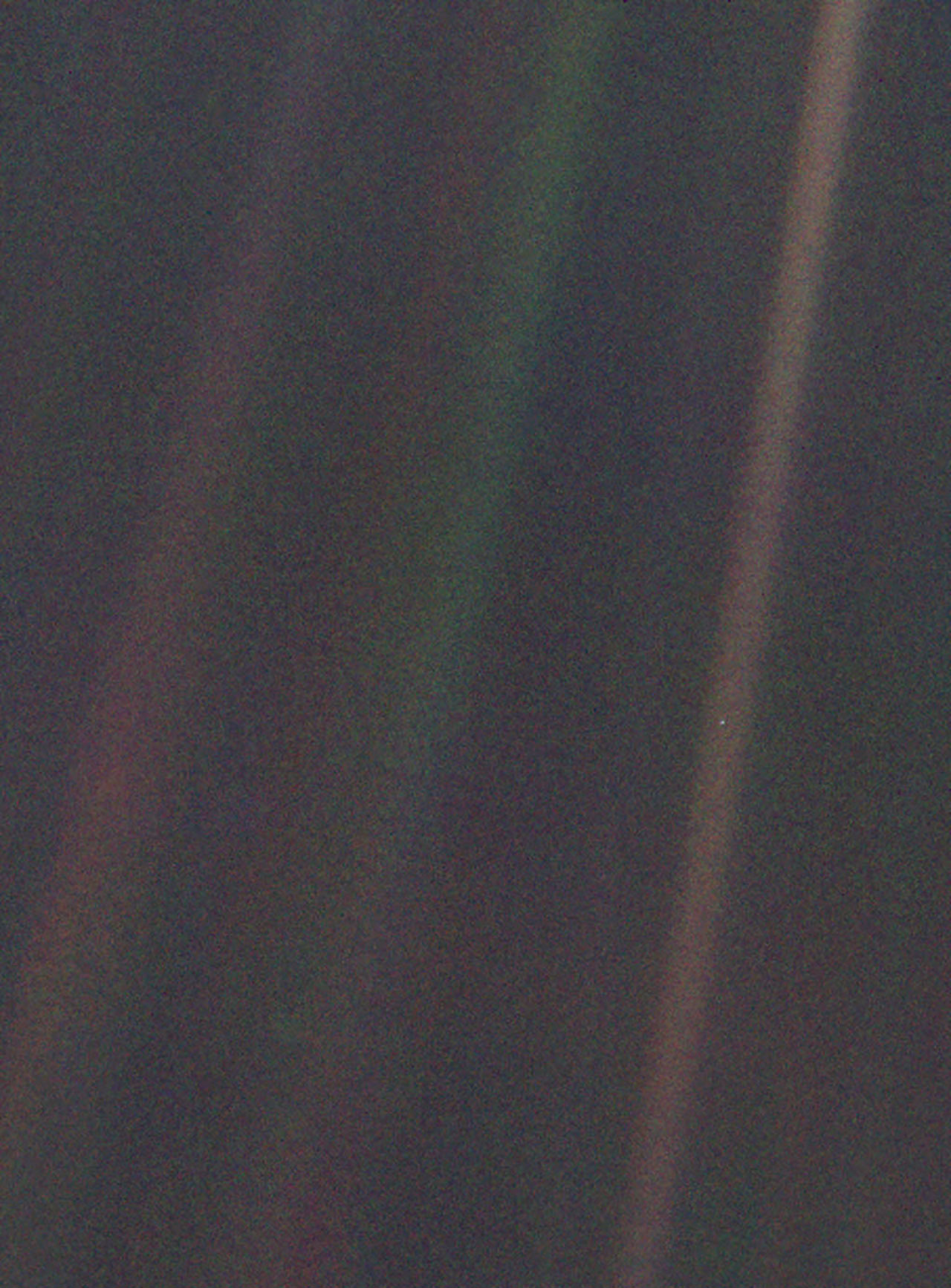 Pale blue dot Earth image for photos of Earth from various points in space
