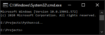 How to change the directory in the Command Prompt?