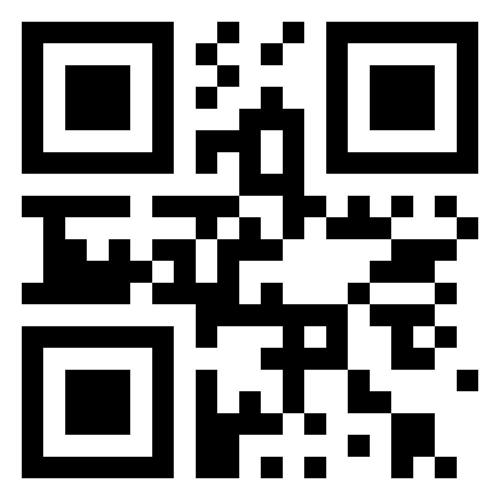 Version 1 QR code