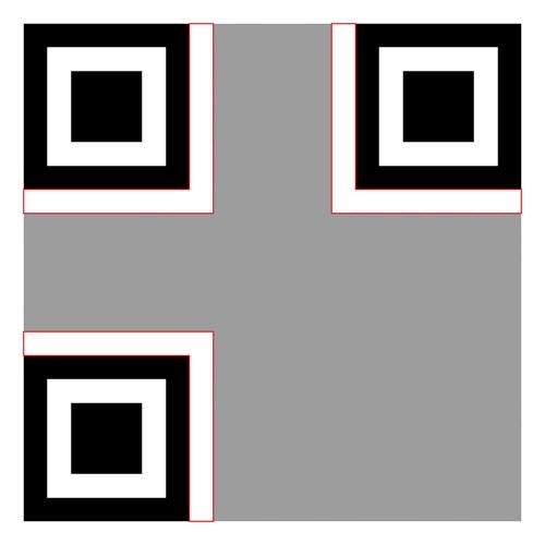Separators in QR code