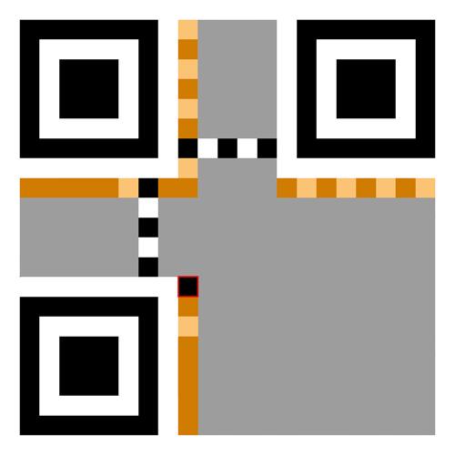 An unused data bit in QR code
