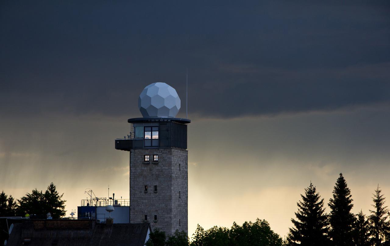 A Doppler weather radar station