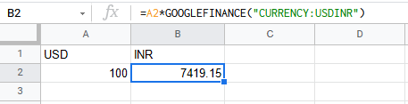 How to convert currencies in Google Sheets?